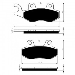 Front brake pads Goldfren Triumph Tiger 885 1993-1998 type S3