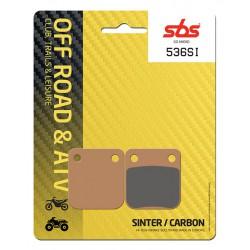 Front brake pads SBS Hyosung TE 400  2005 - 2006 směs SI