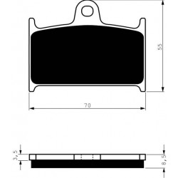 Front brake pads Goldfren Suzuki RF 900 1994-2000 type S3