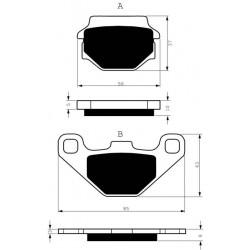 Rear brake pads Goldfren TGB Target 325 2009-2012 type AD