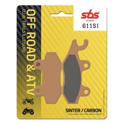 Front brake pads SBS Can-Am  1000 Maverick Right 2013 - 2017 směs SI