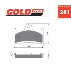Rear brake pads Goldfren CF Moto X6 Terralander 625 2011-2013 type AD