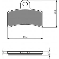Rear brake pads Goldfren Gas Gas TXT 270 1999-1999 type K5