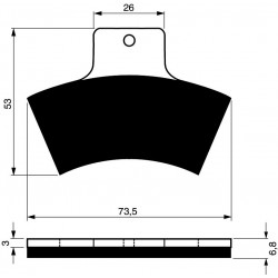 Rear brake pads Goldfren Linhai Goon 2008-2015 type K5