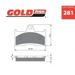 Rear brake pads Goldfren CF Moto X6 Terralander 625 2011-2013 type K5