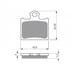 Rear brake pads Goldfren Husqvarna TC 85 2014-2017 type K5