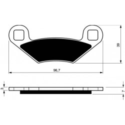 Rear brake pads Goldfren Linhai Dragonfly 2008-2015 type S3