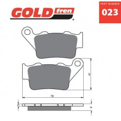 Rear brake pads Goldfren BMW C1 200 2002-2007 type S3