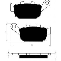 Rear brake pads Goldfren Buell XB9R 1000 Firebolt 2002-2007 type S33