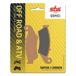 Front brake pads SBS Bimota BBX 508 Enduro 2012 směs SI