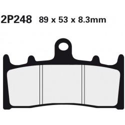 Front brake pads Nissin Kawasaki ZRX 1200 2001 -  type ST