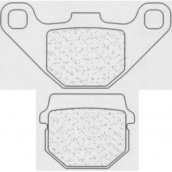Front brake pads CL-Brakes HYOSUNG SF 50 1999-2007 type SC
