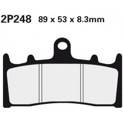 Front brake pads Nissin Suzuki GSX 1400 test 2002 -  type ST