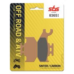 Front brake pads SBS Suzuki LT-A 700 King Quad Right 2005 - 2011 směs SI