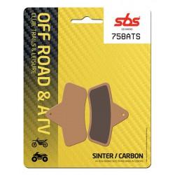 Rear brake pads SBS Laverda  500 Quasar 4x4 2004 type ATS