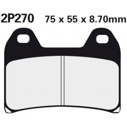 Front brake pads Nissin Ducati 848 Streetfighter 2012 -  type ST