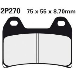 Front brake pads Nissin KTM 690 Duke ABS 2012 -  type ST