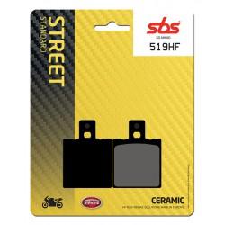 Rear brake pads SBS Gilera  500 Saturno Piuma 1990 - 1994 type HF