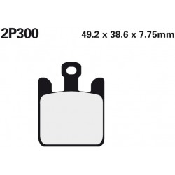 Front brake pads Nissin Kawasaki VN 1600 Mean Streak 2005 -  type ST