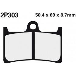 Front brake pads Nissin Yamaha MT-09 850 Street Rally (Rad.cal) 2014 -  type ST
