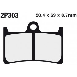 Front brake pads Nissin Yamaha XV 1700 Road Star Warrior 2002 type ST