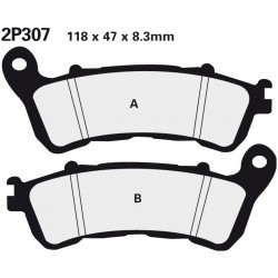 Front brake pads Nissin Honda NSS 300 Forza 2014 -  type ST
