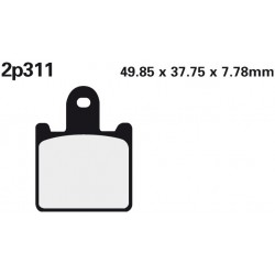 Front brake pads Nissin Kawasaki ZZR 1400 (Rad.cal) 2006 -  type ST