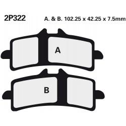 Front brake pads Nissin KTM RC8 1190 R 2009 -  type ST