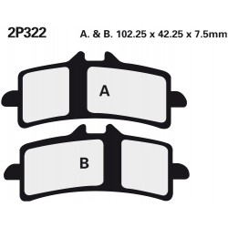 Front brake pads Nissin KTM 1290 Super Duke R 2014 -  type ST