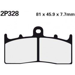 Front brake pads Nissin BMW K 1200 LT With Integral ABS 2001 -  type ST