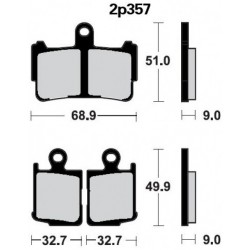 Front brake pads Nissin Honda VFR 1200 F 2010 -  type ST
