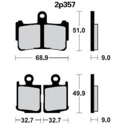 Front brake pads Nissin Honda VFR 1200 F w/DCT 2010 -  type ST