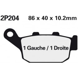 Rear brake pads Nissin Triumph TT 600 2000 - 2003 type NS