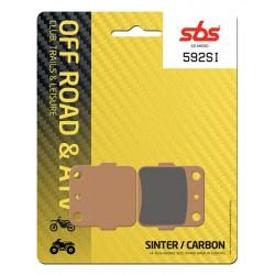 Rear brake pads SBS Kawasaki KLX 140 , L 2008 - 2018 type SI