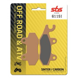 Rear brake pads SBS Derbi DXR 250 Quad (Front drum) 2004 - 2005 type SI