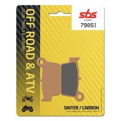 Rear brake pads SBS Beta  300 Crosstrainer 2015 type SI