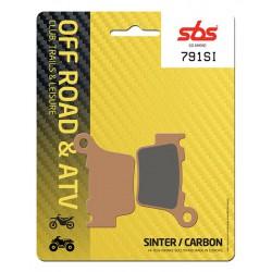 Rear brake pads SBS Rieju MRX 450 Marathon 2008 - 2012 type SI