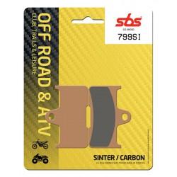 Rear brake pads SBS CF Moto  450 G-Force L 2016 - 2017 type SI