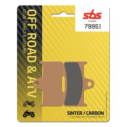 Rear brake pads SBS CF Moto CF 500 Terralander 2013 - 2015 type SI