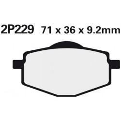 Rear brake pads Nissin Yamaha TZM 50 R 1994 -  type NS