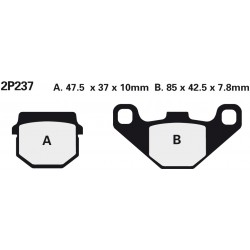 Rear brake pads Nissin Aprilia SX 50 Ltd. 2014 type NS