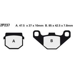 Rear brake pads Nissin Aprilia RS-4 125 2012 -  type NS