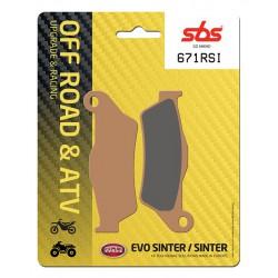 Front brake pads SBS TM  400 F 2001 type RSI