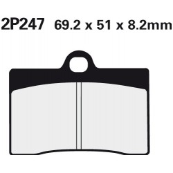 Front brake pads Nissin Ducati 750 SS 1991 -  type NS