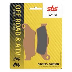 Front brake pads SBS TM  320  1996 - 1997 type SI
