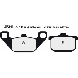Rear brake pads Nissin Kawasaki ZN 1300 A1, A2, A2L 1983 - 1984 type NS