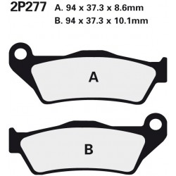 Rear brake pads Nissin BMW R 850 RT With Integral ABS 2001 -  type NS