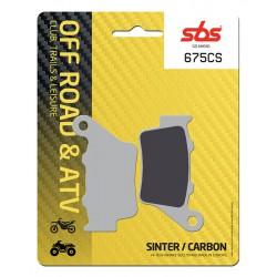 Rear brake pads SBS Benelli BX 449 Cross 2007 - 2009 type CS