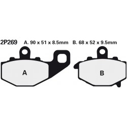 Rear brake pads Nissin Kawasaki ZX-6R 636 Ninja 2002 type NS