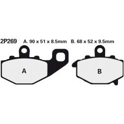 Rear brake pads Nissin Kawasaki ZX-6R 636 Ninja (Rad.cal) 2003 - 2006 type NS
